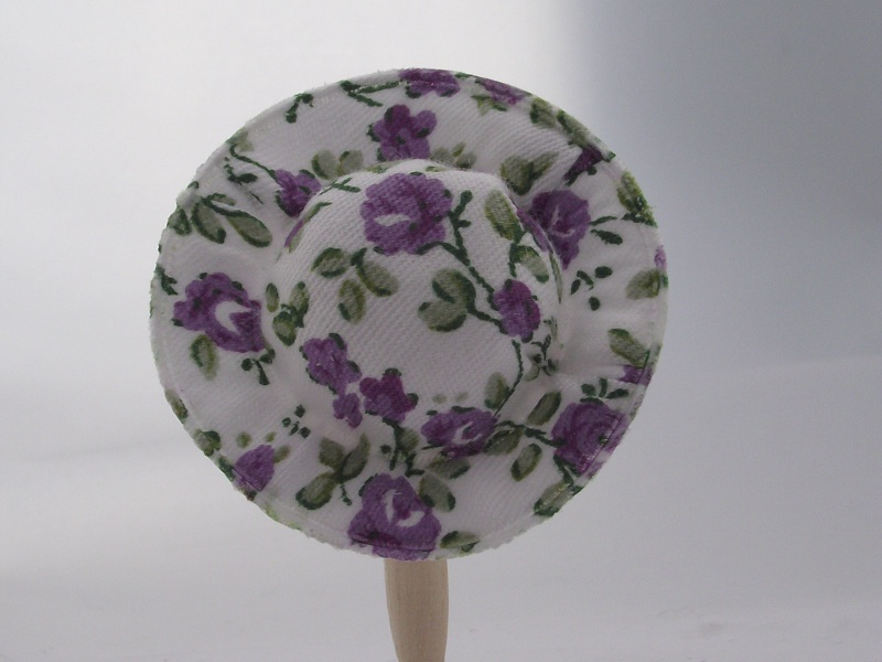 Purple Floral Sun Hat