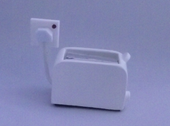 Electric Toaster in White